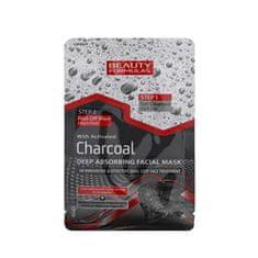 Beauty Formulas Tisztító bőrápoló aktív szénnel 2in1(Charcoal Deep Absorbing Facial Mask) 13 g