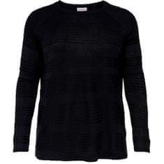 Only Carmakoma Női pulóver CARAIRPLAIN 15193822 Black