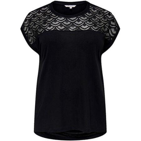 Only Carmakoma Női póló CARFLAKE 15197908 Black (Méret 5XL/6XL)