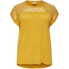 Only Carmakoma Női póló CARFLAKE 15197908 Yolk Yellow