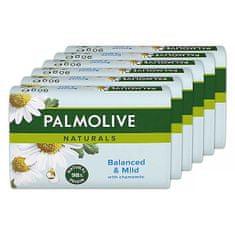 Palmolive Tuhé mydlo Naturals Balance d & Mild 6 x 90 g