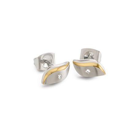 Boccia Titanium Aranyozott titán fülbevaló gyémánttal 05044-04