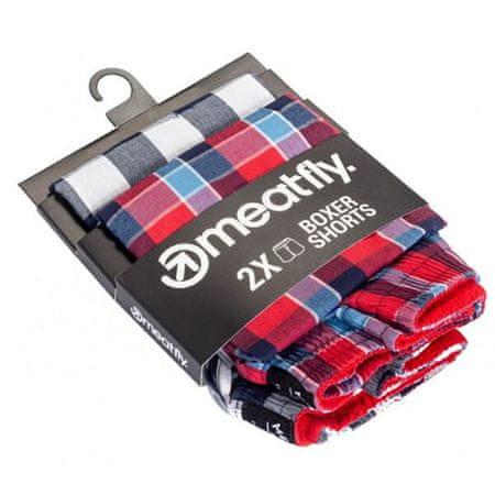 MEATFLY 2 PACK - férfi rövidnadrág Jukebox 20 - Double pack F (Méret S)