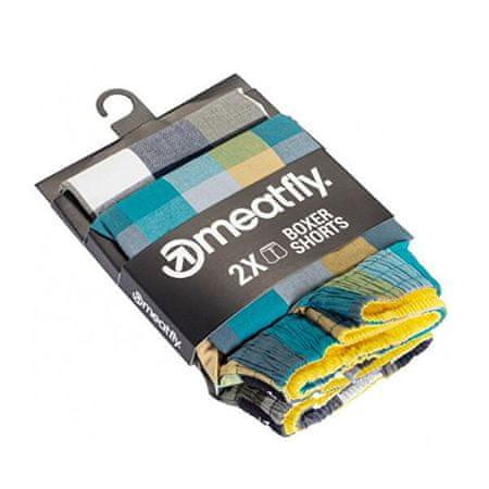MEATFLY 2 PACK - moške kratke hlače Jukebox 20 - Dvojno pakiranje B (Velikost S)