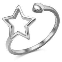 JVD Krásny otvorený strieborný prsteň SVLR0256XH2BI striebro 925/1000