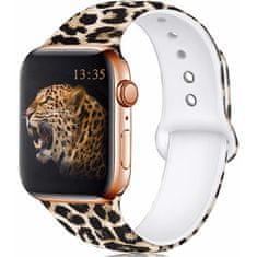4wrist Silikonový řemínek pro Apple Watch - Leopardí 42/44 mm