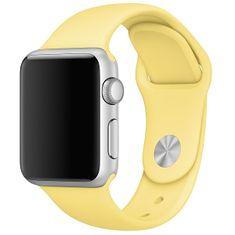 4wrist Silikonový řemínek pro Apple Watch - Žlutá 38/40 mm - S/M