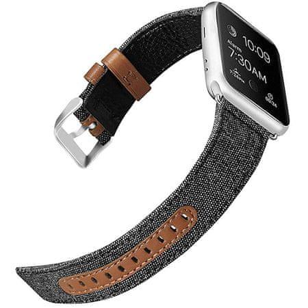 4wrist Bőr + szövet szíj Apple Watch -42/44 mm