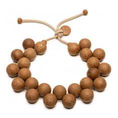 Ballsmania Originální hnědý náhrdelník Bioballs Legno C206-0003 LE