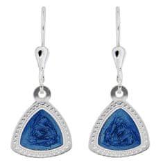 Praqia Elegáns ezüst fülbevaló kék középpel NA5107_RH