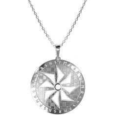 Praqia Pánsky strieborný náhrdelník Sol KO5006_MO060_50_RH (retiazka, prívesok) striebro 925/1000