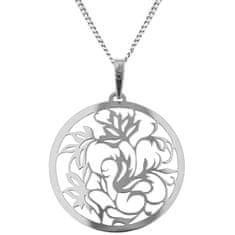 Praqia Strieborný náhrdelník Liana KO5187_CU040_45_RH (retiazka, prívesok) striebro 925/1000
