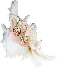 Lampglas Elegantné náušnice My Roots z perál Lampglas s 24 karátovým zlatom EP15