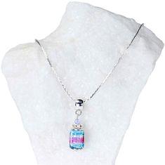 Lampglas Elegantný dámsky náhrdelník Vivienne s perlou Lampglas s rýdzim striebrom NSA22