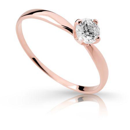 Cutie Jewellery Bájos gyűrű Z6726-2365-10-X-4 (Kerület 55 mm) rózsaszín arany 585 /1000