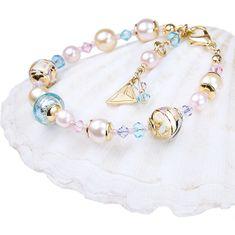 Lampglas Krásny náramok Romantic Roots s perlami Lampglas s 24 karátovým zlatom BP13