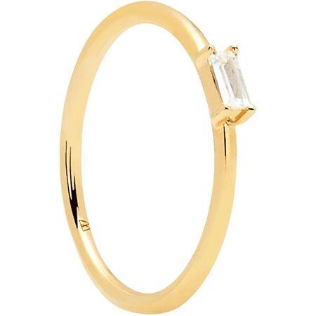 PDPAOLA Aranyozott ezüst gyűrű csillogó AMANI cirkónium kővelGold AN01-146 (Kerület 52 mm) ezüst 925/1000