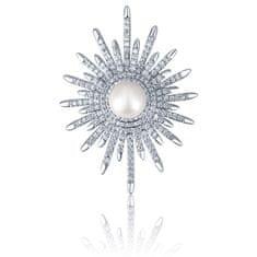 JwL Luxury Pearls Překrásná brož s perlou 2v1 JL0662