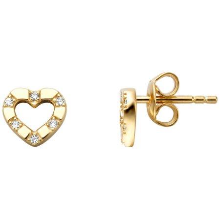 Esprit Arany fülbevaló cirkónium kövekkel ESER01351200