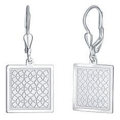 Praqia Finom ezüst fülbevaló Négyzetek NA6259