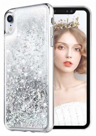 Ovitek za Samsung Galaxy A51, silikonski, prozoren, s srebrnimi bleščicami