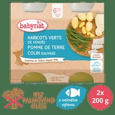 Babybio Brambory a zelené fazolky s aljašskou treskou 2x200 g