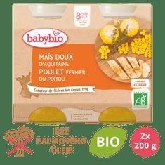 Babybio Sladká kukuřice s kuřecím masem 2x200 g