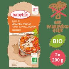 Babybio Zelenina s kuřetem a quinoa 2x200 g