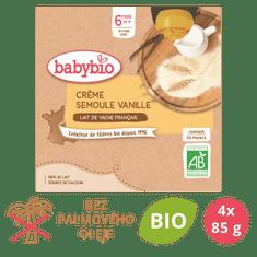 Babybio Krém, vanilka, krupička 4x85 g