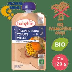 Babybio Sladká zelenina, rajčata, proso 7x120 g