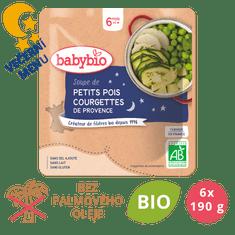 Babybio Hrášková polévka s cuketou 6 x 190 g
