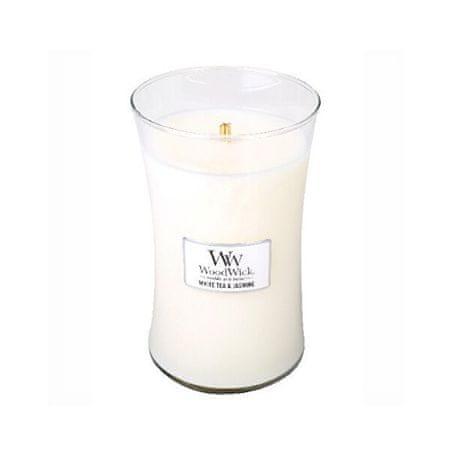 Woodwick Dišeča vaza za sveče, velik beli čaj in Jasmine 609,5 g