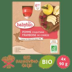Babybio Jablko a malina 4x90 g