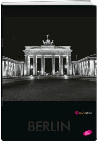Elisa bilježnica Cities by Night, A4, linije, 52-listova, 10/1