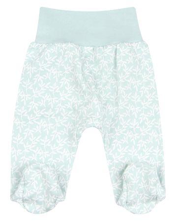 Nini hlače sa stopalima za djevojčice od organskog pamuka ABN-2207, 56, svijetlo zelene