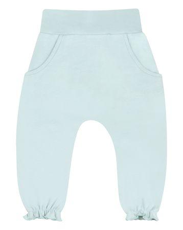 Nini spodnie dresowe dziewczęce z organicznej bawełny ABN-2209 56 jasnozielone