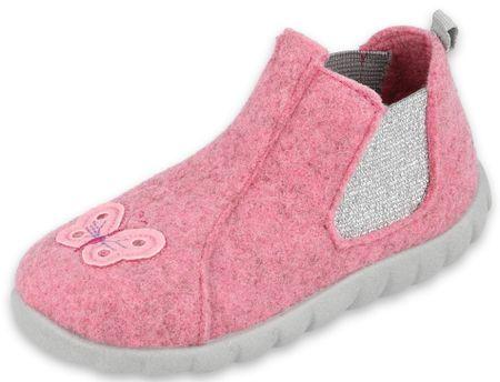 Befado lány magasszárú házicipő Flexi 546P024, 22, rózsaszín