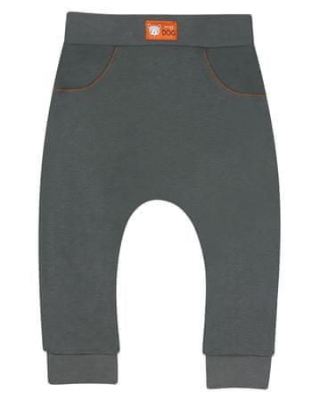 Nini ABN-2323 bodi za dječake od organskog pamuka, 80, tamno siva
