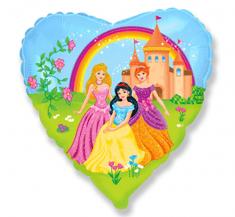 """Anagram Fóliový balón 18"""" Princezne - farebný"""