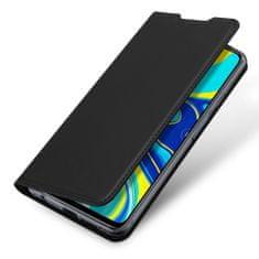 Dux Ducis Skin Pro usnjeni flip ovitek za Xiaomi Redmi Note 9 Pro / Redmi Note 9S, črna