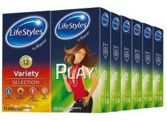 Lifestyles Skyn Variety & Play kondomi, 6+6