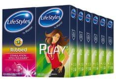 Lifestyles Skyn Ribbed & Play kondomi, 6+6