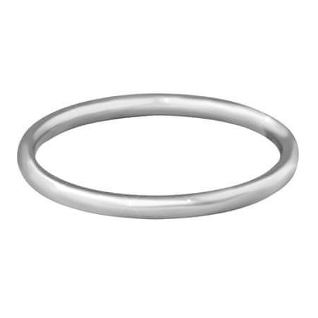 Troli Gyengéd minimalista acél gyűrű Silver (Kerület 58 mm)