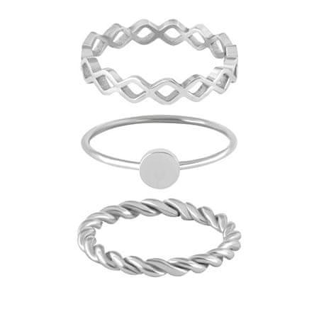 Troli Három acél gyűrű készlet (Kerület 54 mm-es)