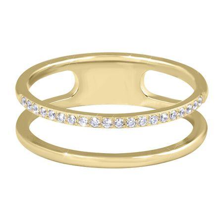 Troli Dupla minimalista acél gyűrű Gold (Kerület 56 mm)