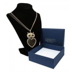 Lorenti Dámský náhrdelník s přívěskem Velká Sova moudrosti, zlatý