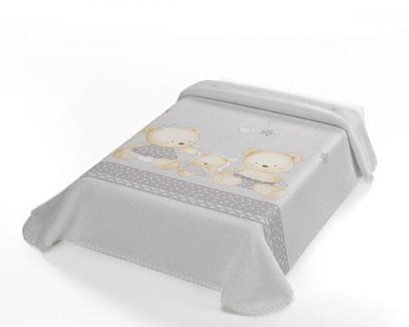 Belpla Kocyk perłowy Baby, 663, 80x110, szary