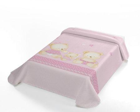 Belpla Baby Pearl ster takaró, 663, 80x110, rózsaszín