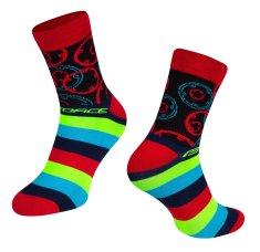 Force Cyklistické ponožky Sprocket - červené
