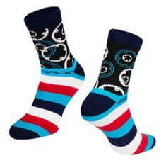 Force Cyklistické ponožky Sprocket - modro/bílé